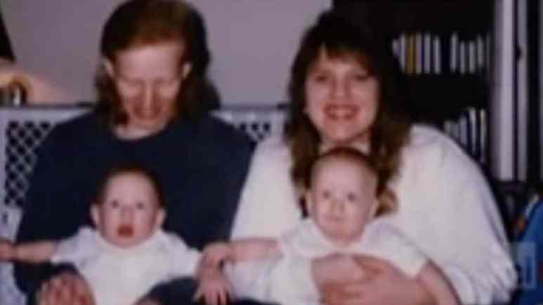 Lisa Carlson seen with her twins in a family photo