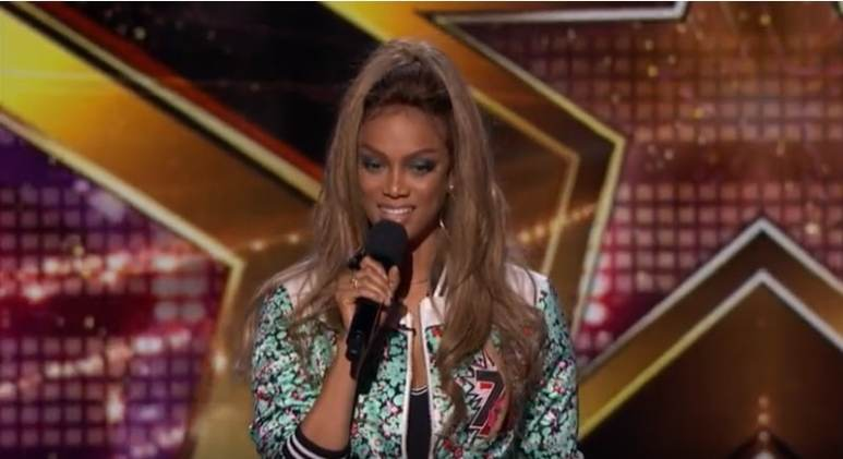 Tyra Banks as host of America's Got Talent