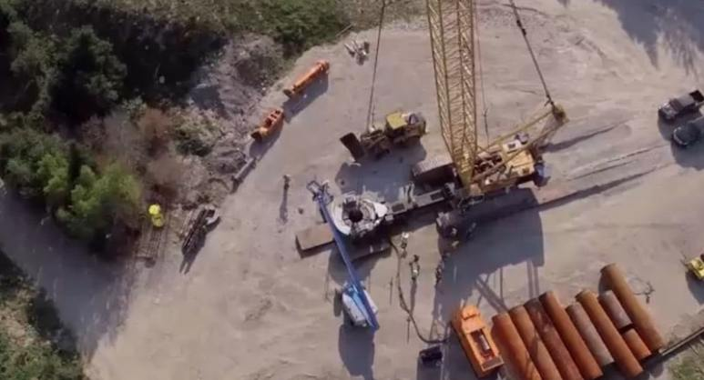 Money Pit from above