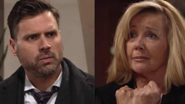 Nick and Nikki (seen here looking distressed) feature in The Young and the Restless spoilers for next week.