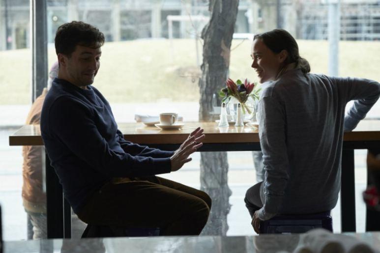 John Magaro as Leonard Peabody/Harold Jenkins and Ellen Page as Vanya in The Umbrella Academy