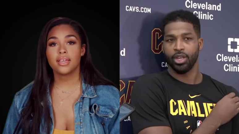 Jordyn Woods on Life of Kylie and Tristan Thompson in a post-NBA game interview