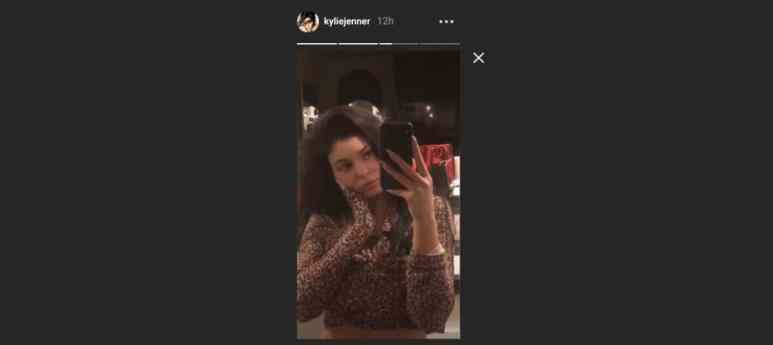 Kylie Jenner shares a video while home alone on Instagram