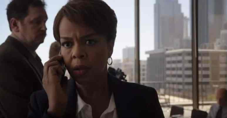 Actress Paula Newsome as her character Caroline Charles on Chicago Med