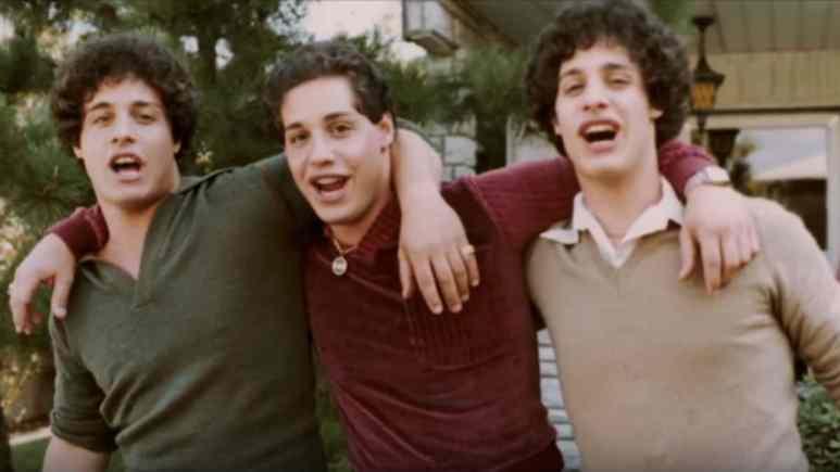 Three identical twins photo