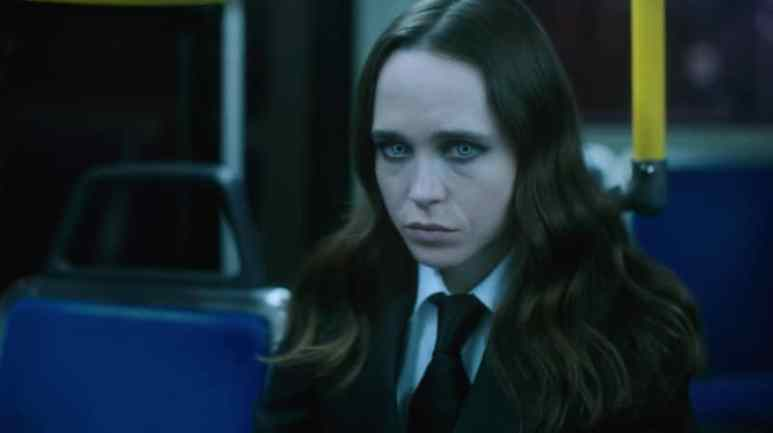 Ellen Page as Vanya on The Umbrella Acadamy
