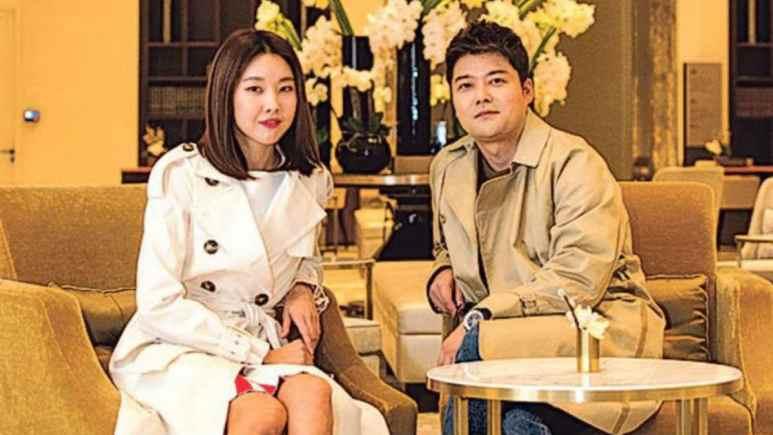 Jun Hyun Moo and Han Hye Jin
