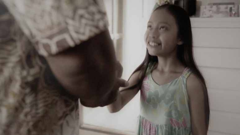 A young version of Natano's daughter Maya on Hawaii Five-0