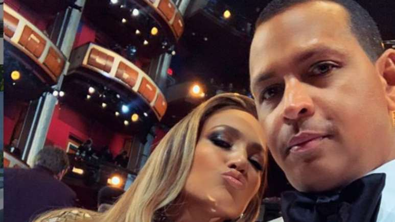 Jennifer Lopez and Aa Rodriguez at the Oscars