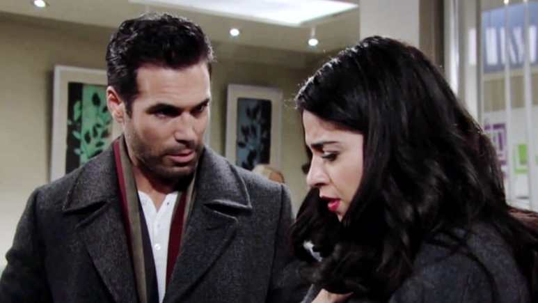Rey and Meya on The Young and Restless