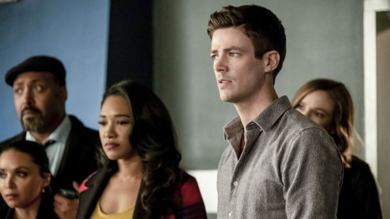 Barry, Iris and the rest of team Flash on The Flash.