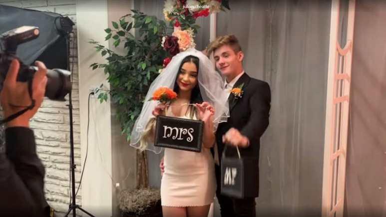 Danielle Cohn and Mikey Tua in Las Vegas