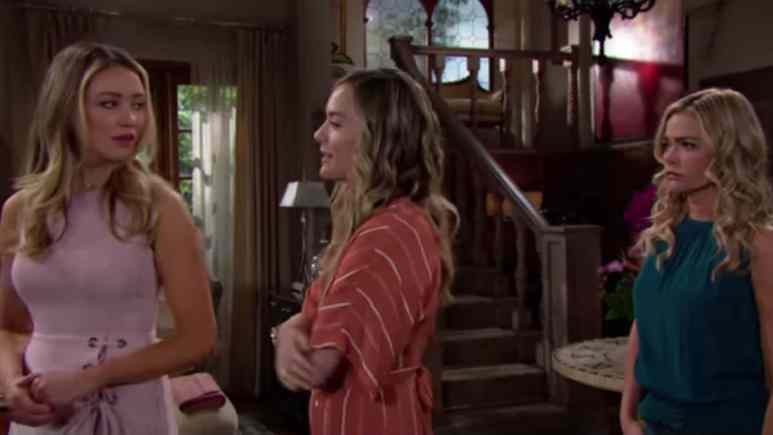 Katrina Bowden, Annika Noelle, and Denise Rcihards as Flo, Hope, and Shauna on The Bold and the Beautiful