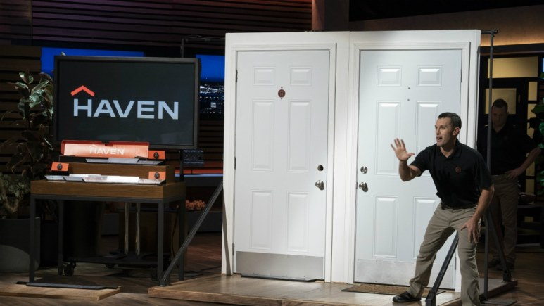Clay Banks and Alex Bertelli are hoping Haven gets a deal on Shark Tank.