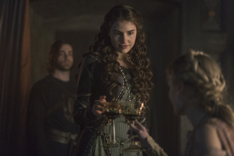 History Channel's 'Knightfall,' Season 2, Episode 6, Blood Drenched Stone, Genevieve Gaunt as Princess Isabella and Clementine Nicholson as Princess Margaret