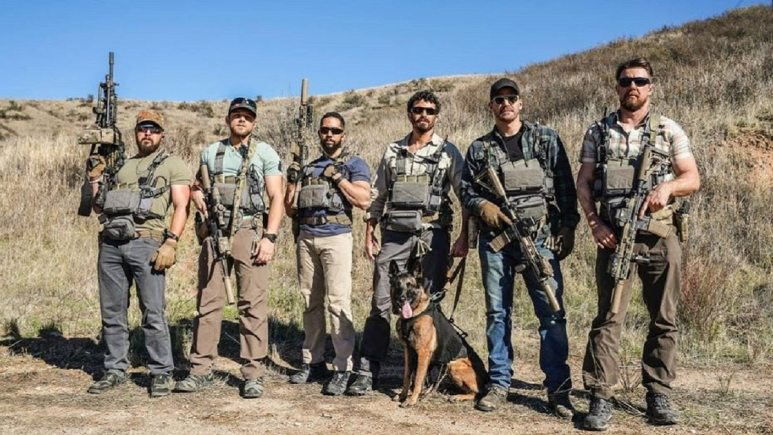 David Boreanaz, Neil Brown Jr., A.J. Buckley, Tyler Grey, Max Thieriot and Justin Melnick on SEAL Team