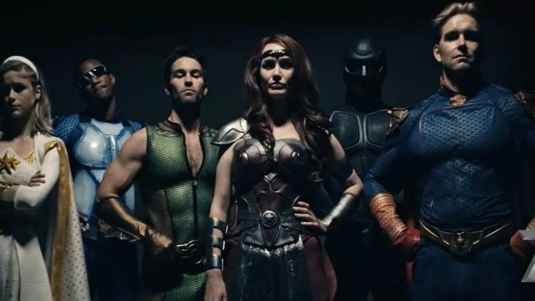 The Seven superheroes from the Amazon Prime series, The Boys