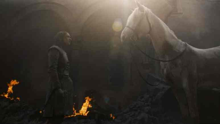 Arya Stark and white pale horse