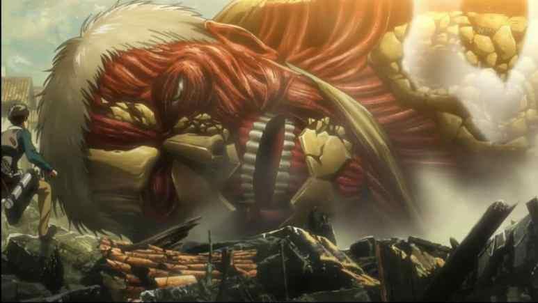 Attack On Titan scene as a still