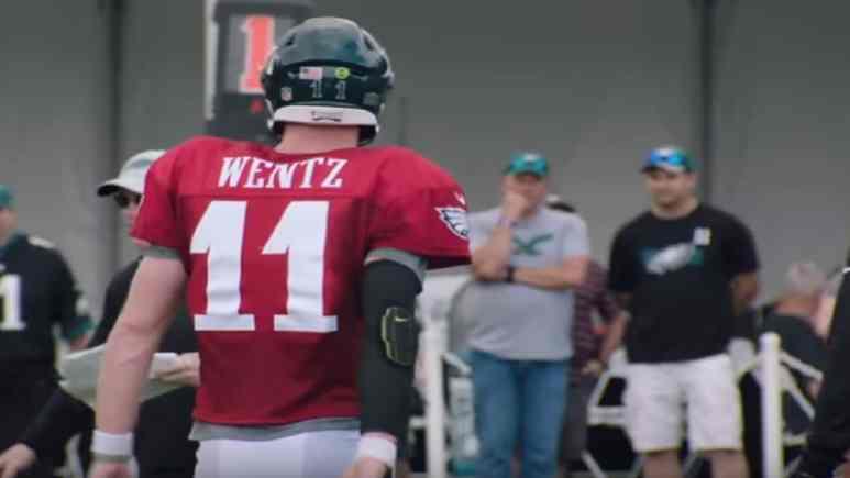 Carson Wentz at practice