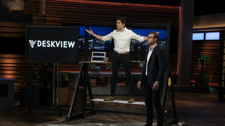 Michael Bolos and Jason Grohowski present Deskview on Shark Tank
