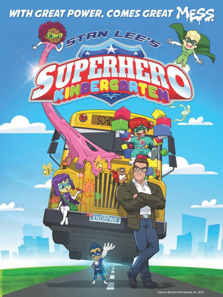 Promotional poster for Stan Lee's Superhero Kindergarten