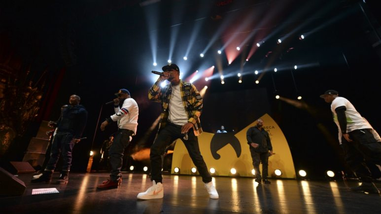 Wu Tang Clan performs at the TRIBECA Film Festival ahead of the release of For Mics and Men.