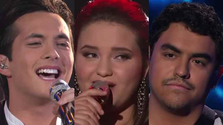 Laine Hardy, Madison VanDenBurg and Alejandro Aranda on American Idol