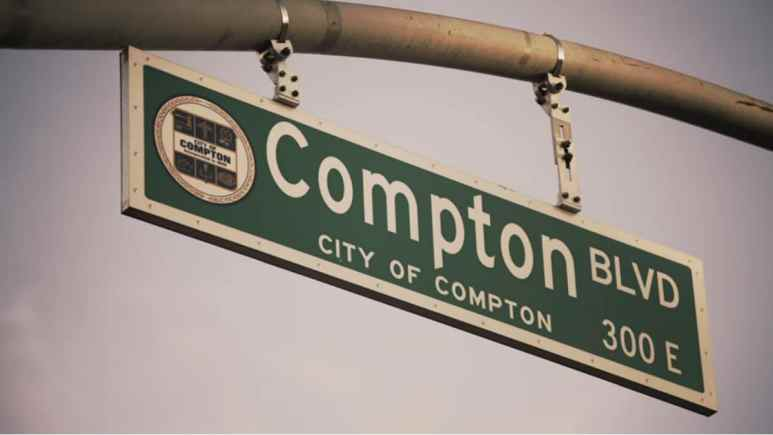 City of Compton sign from Black Ink Crew: Compton trailer