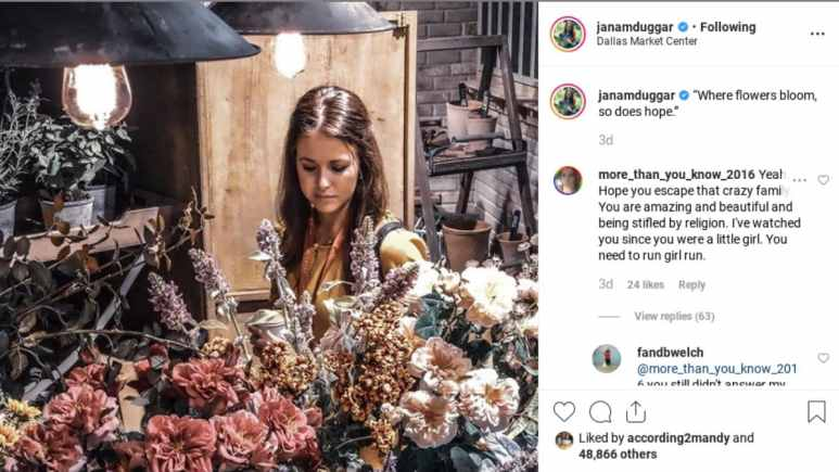 Jana Duggar gets advice from followers on Instagram.