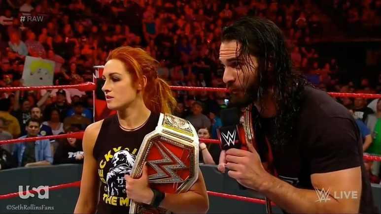 Seth Rollins and Becky Lynch