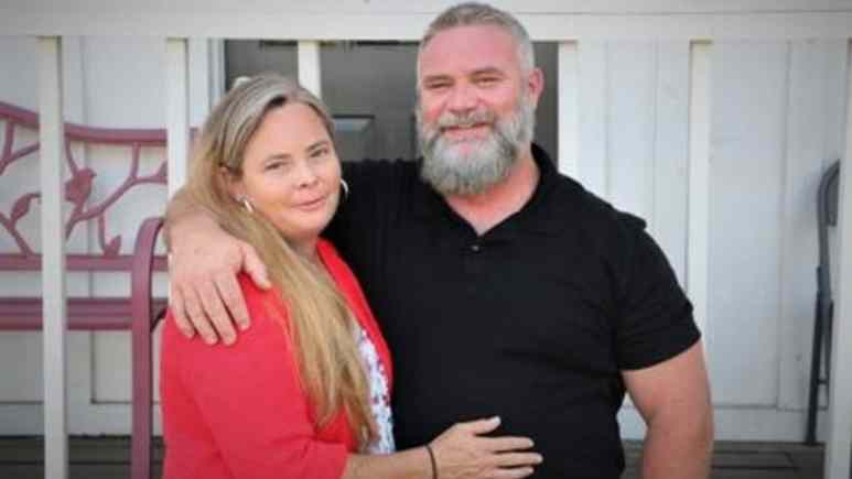 Bernie and Paige in happier days. Pic credit: Discovery/TLC