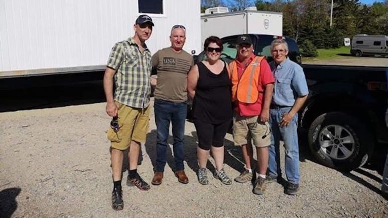 Natalie and her husband Bernard with Gary Drayton, Charles Barkhouse and Craig Tester