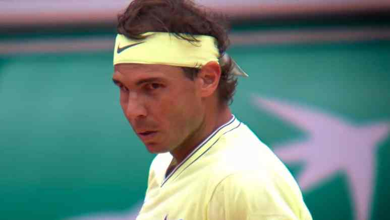 rafael nadal on court at french open 2019