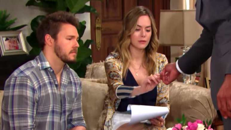 Liam and Hope prepare to sign annulment papers on The Bold and the Beautiful