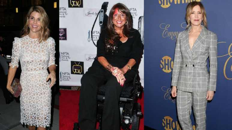 Lori Loughlin, Abby Lee Miller and Felicity Huffman