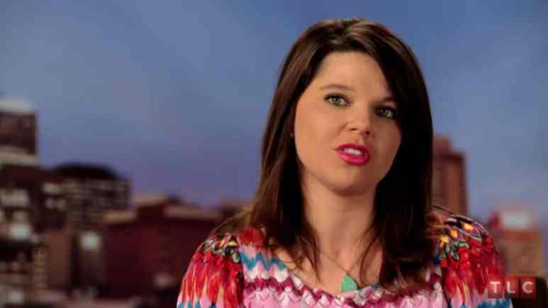 Amy Duggar during a 19 Kids and Counting confessional.