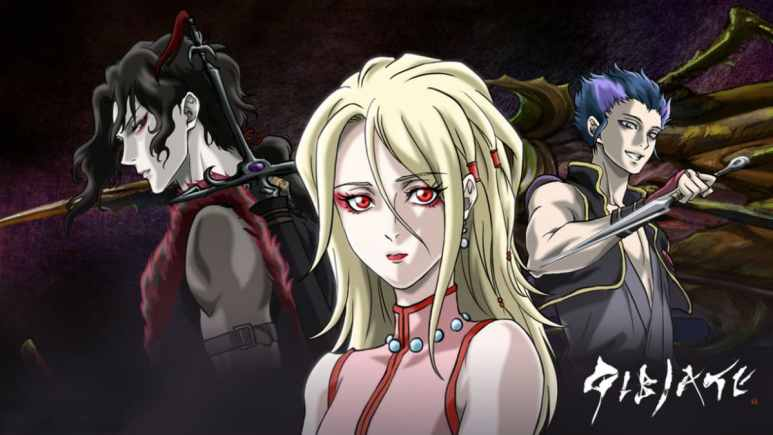 Sensui Kanzaki, Kathleen, and Kenroku Sanada of GIBIATE