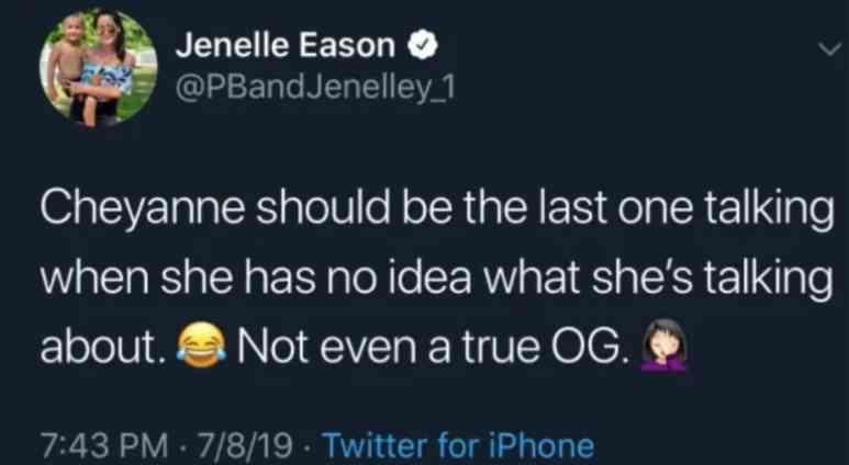 Jenelle Evans tweet