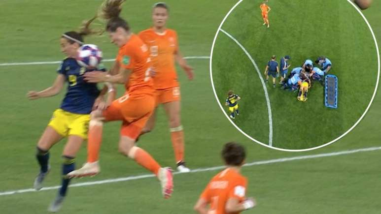 Sweden's Kosovare Asllani injury