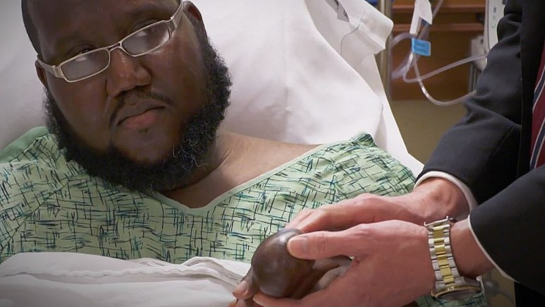 Gerald is more nervous about anesthesia than the surgery. Pic credit: TLC