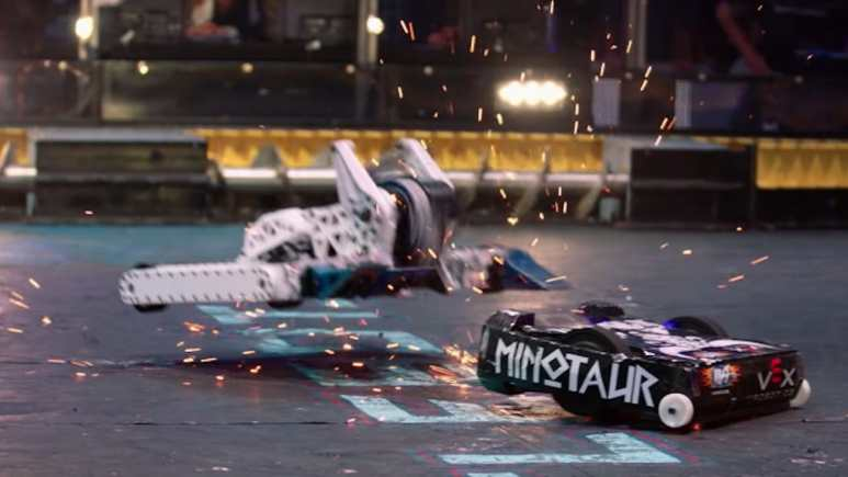 robots clash with each other on battlebots
