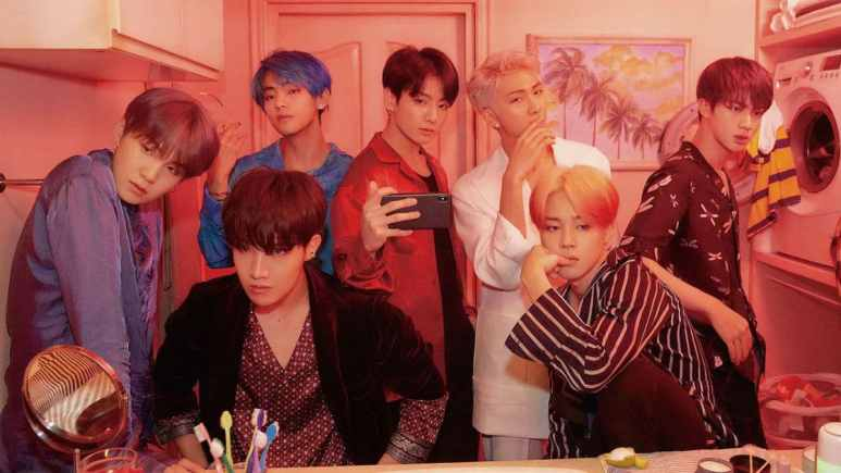 BTS in Boy With Luv