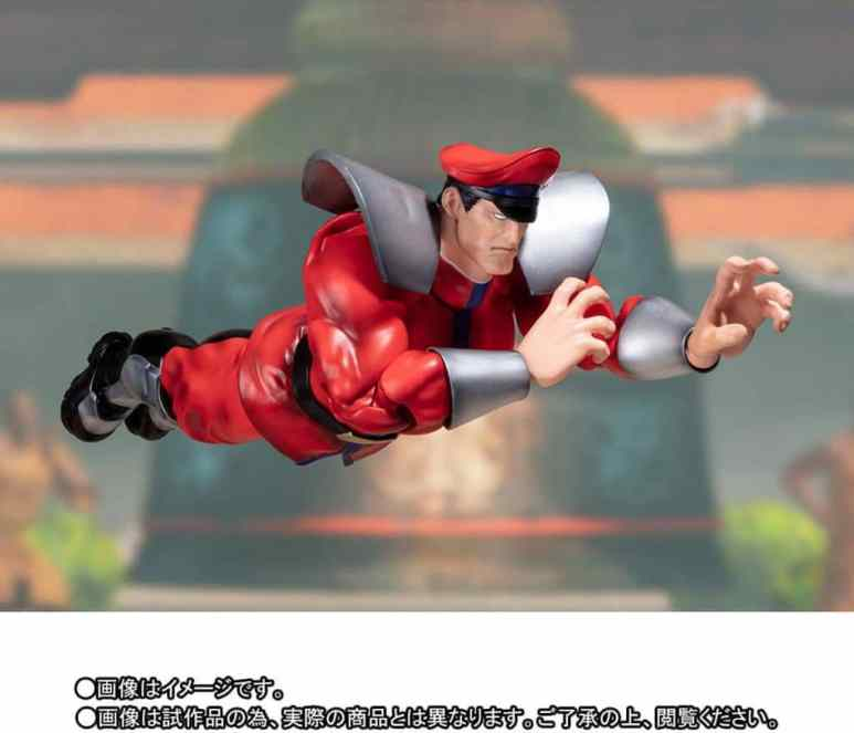 The Street Fighter V – S.H. Figuarts Classic Costume M. Bison in mid air
