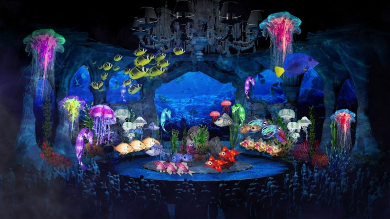 The set for the Little Mermaid Live