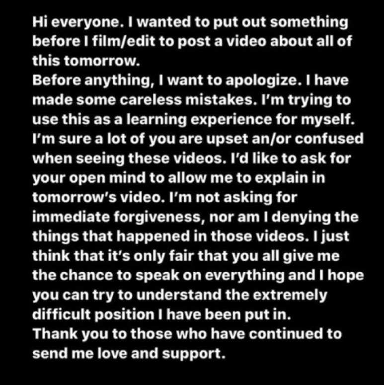 Summer McKeen's apology