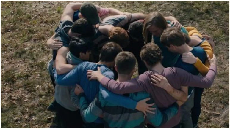 The Fellowship huddling at Ivanwald in Netflix's The Family
