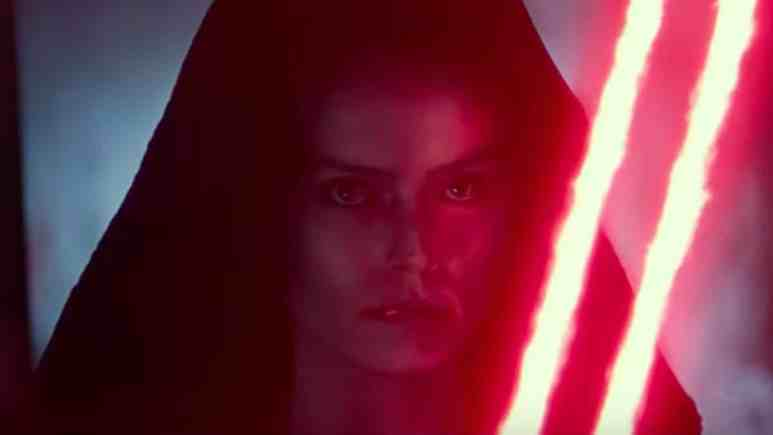 rey has a red lightsaber in new d23 star wars footage for rise of the skywalker