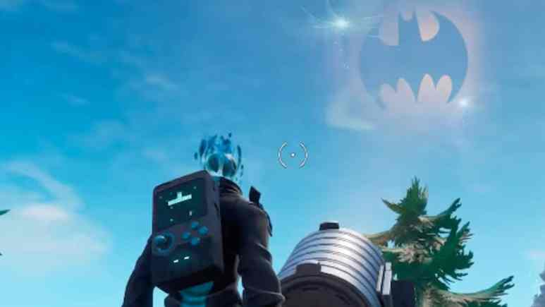 batman fortnite crossover featuring bat signal lights