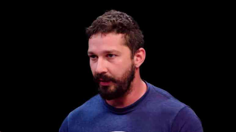 actor shia labeouf as guest on youtube series hot ones